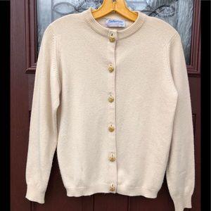 VTG Cashmere Scottish Cardigan Grandma Sweater M